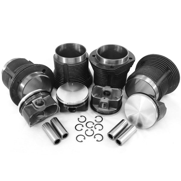 VW 92 x 82mm 2180cc Piston & Cylinder Kit-AA Performance Products, Cast Iron, Hypereutectic, Type-1