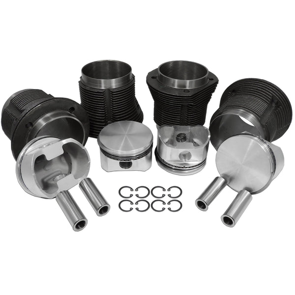 VW 92mm 2180cc Racing Forged Piston & Standard Cylinder Kit-2618 Forged, AA Performance Products, Cast Iron, Type-1