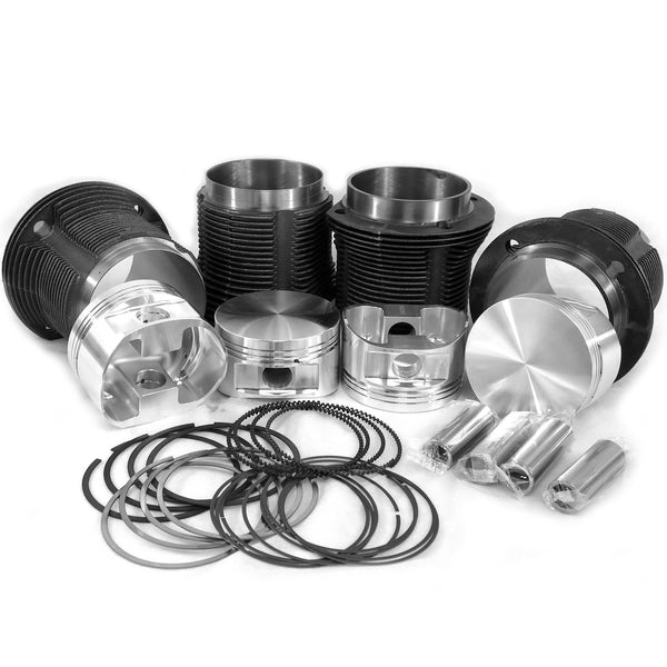 VW 92 x 82mm Thick Wall Cylinders & JE Forged Pistons Kit for 94mm Case *M*-AA Performance Products, Cast Iron, dis25, Hypereutectic, Type-1
