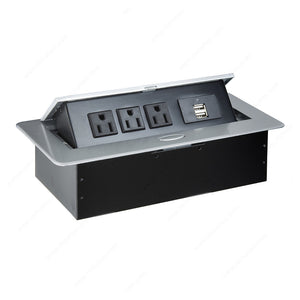 Richelieu Power Station with 3 Outlets and 2 USB