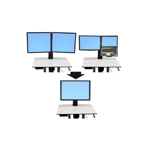 Ergotron Workfit-C Conversion Kit: Dual or LCD & Laptop to Single HD