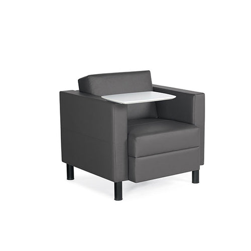 Global Citi 7875RTM Lounge Chair with Right MDF Tablet Worksurface