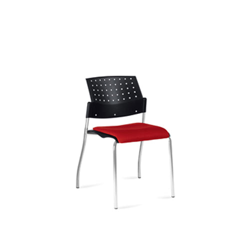 Armless Stacking Chair, Upholstered Seat (GC6509WS)