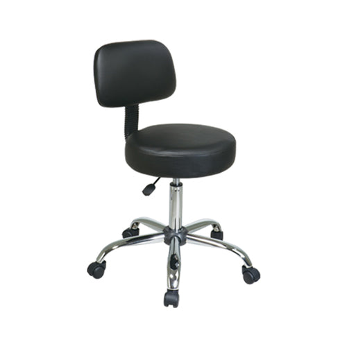 Office Star WorkSmart Vinyl Stool With Back