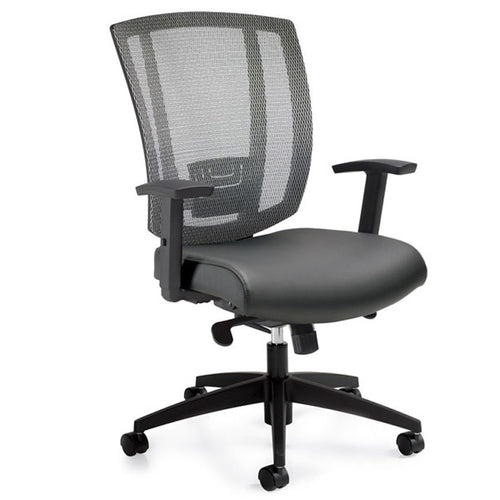 Mesh Back / Upholstered Seat