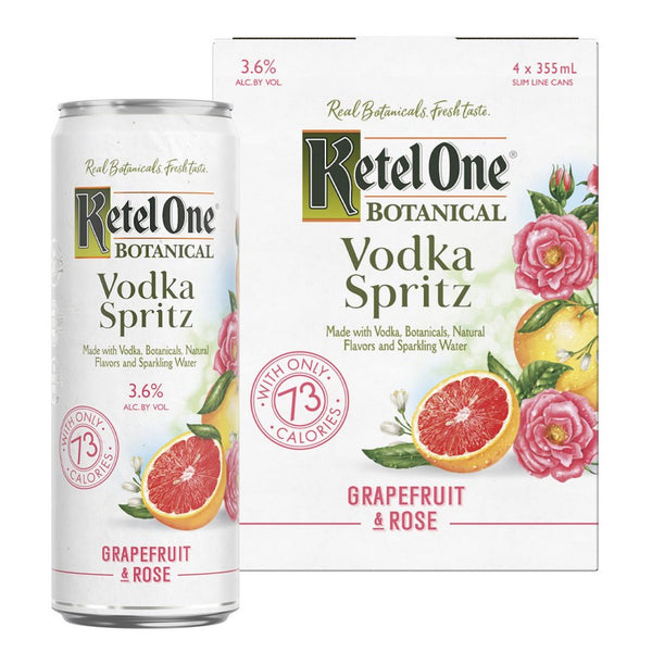 Ketel One Vodka Spritz Grapefruit & Rose 4 pack