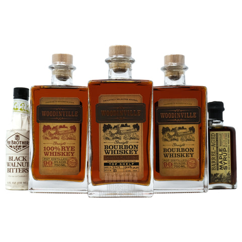 Woodinville Distillers Select Pack, Store Pick, Bourbon, Rye, Maple Syrup, Fee Bros Black Walnut