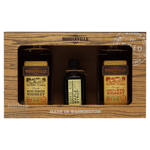Woodinville Bourbon, Rye, and Maple Syrup Gift Set