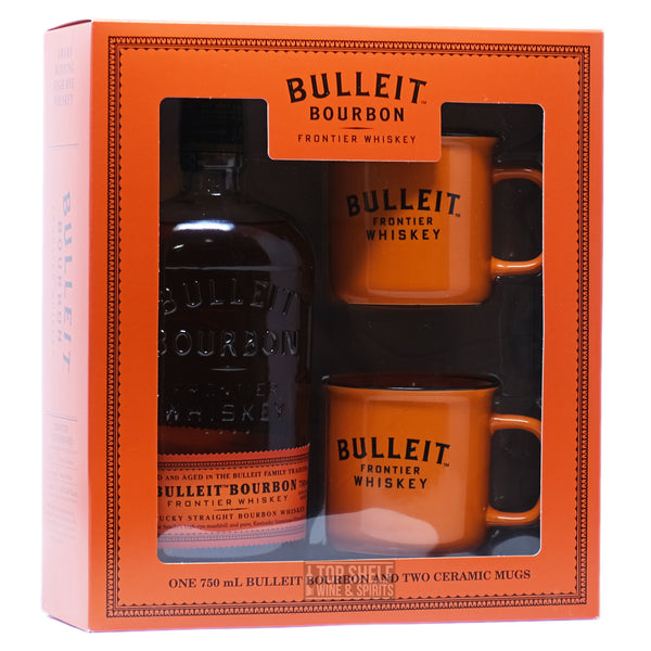 Bulleit Bourbon with Copper Mugs Gift Set
