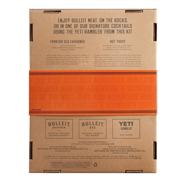 Bulleit Bourbon with 375ml Bulleit Rye & Yeti Rambler Gift Set