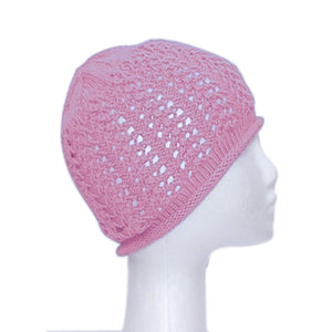 CLAIRE BEANIE - PINK ROSE