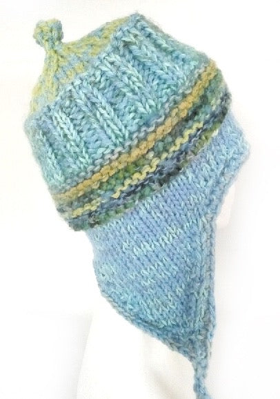 COASTAL BEANIE - Blue Sky- large