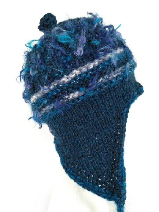COASTAL BEANIE -dark blue - large