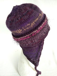 COASTAL BEANIE - purple- large