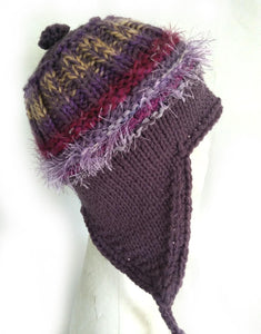 COASTAL BEANIE - grape- medium