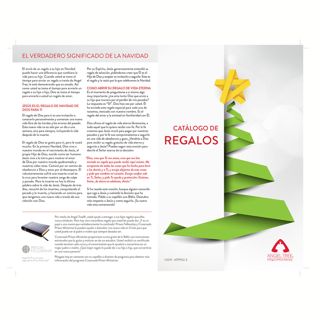 Angel Tree Gift Guide (English or Spanish) – Prison