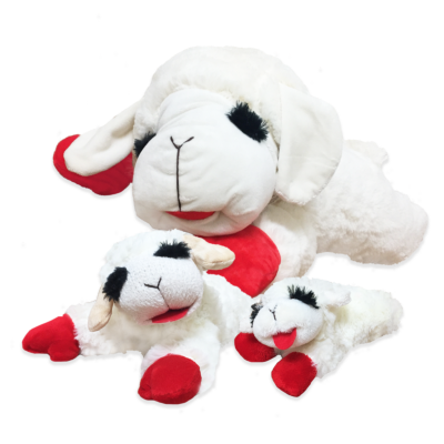 Multipet Lamb Chop plush dog toy