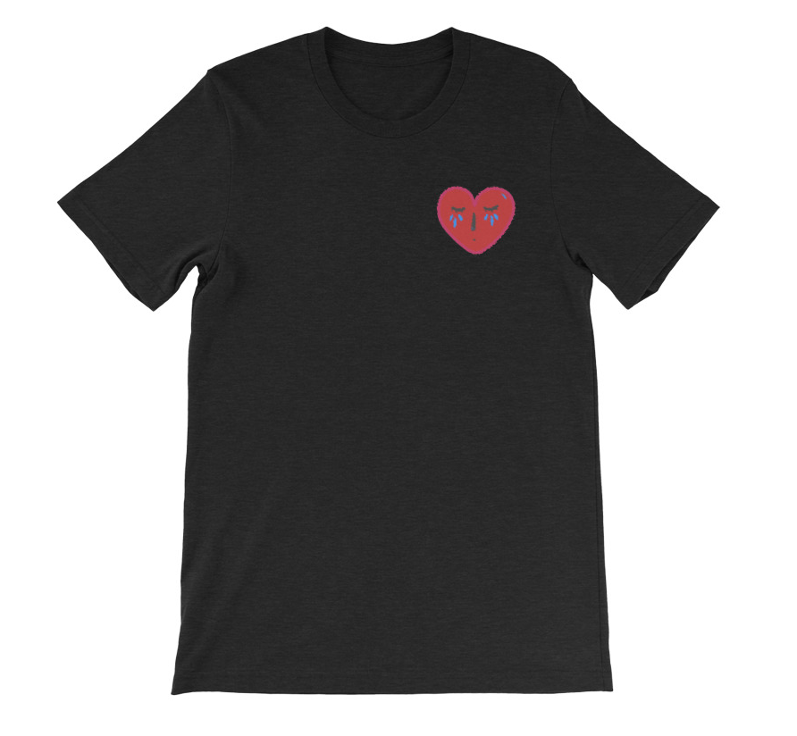 48ef86759 Crying Heart Tee | Mental Health Clothing – Anderson Goods Co.