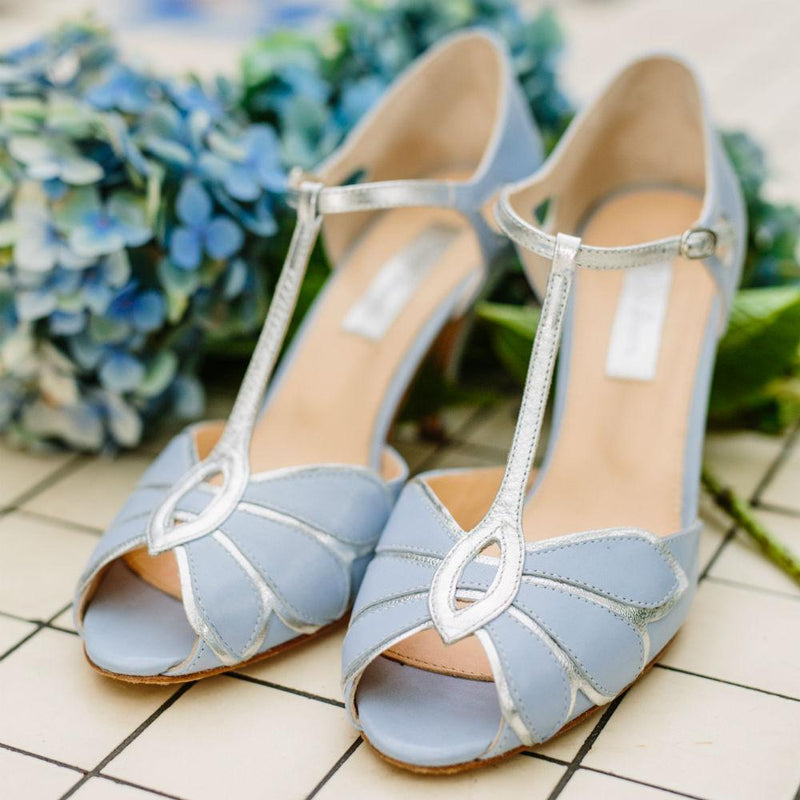 Blue wedding shoes- your something blue?
