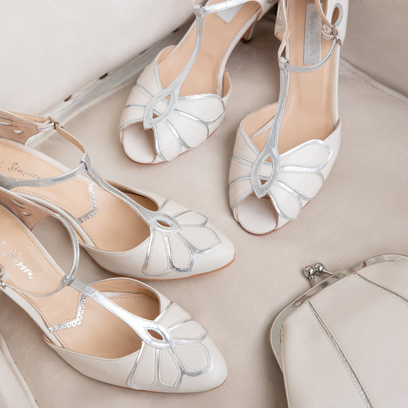 Choose classic ivory for your timeless wedding shoes