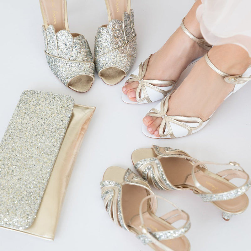 Find the perfect pair of low heel wedding shoes