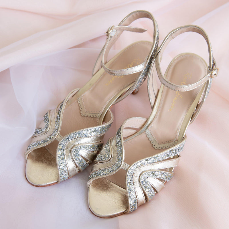 Glitter shoes- the perfect choice to wear again after your wedding day!