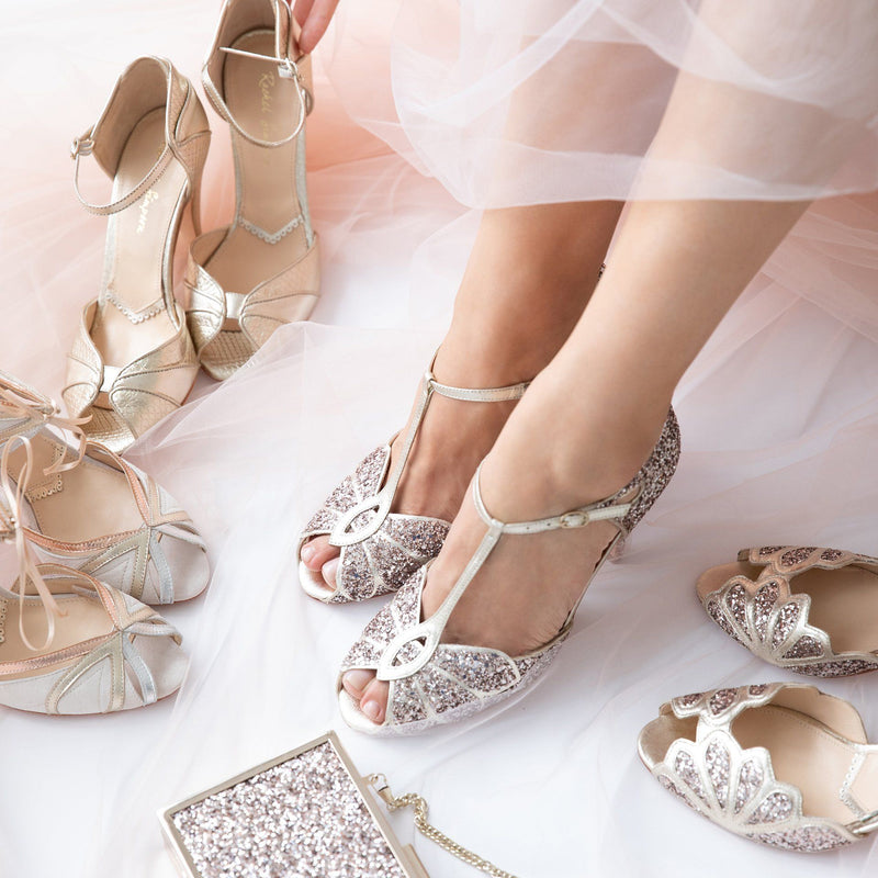 Make your day extra special with sparkly wedding shoes