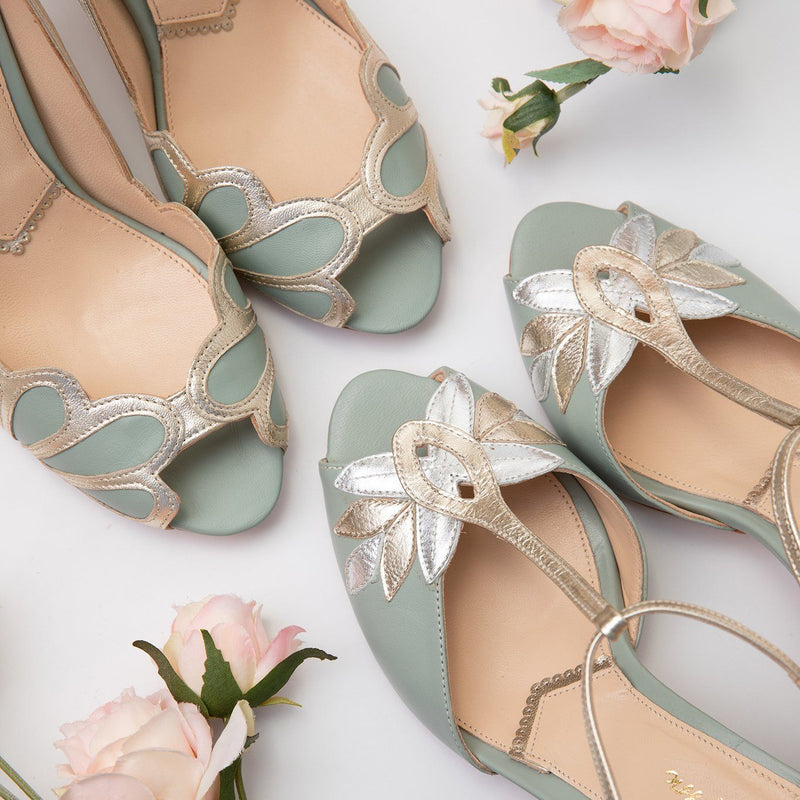 Mint Green Wedding Shoes- now in the Winter Sale!