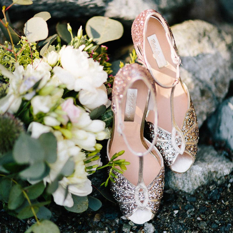 Rose gold wedding shoes- the trend that's set to stay