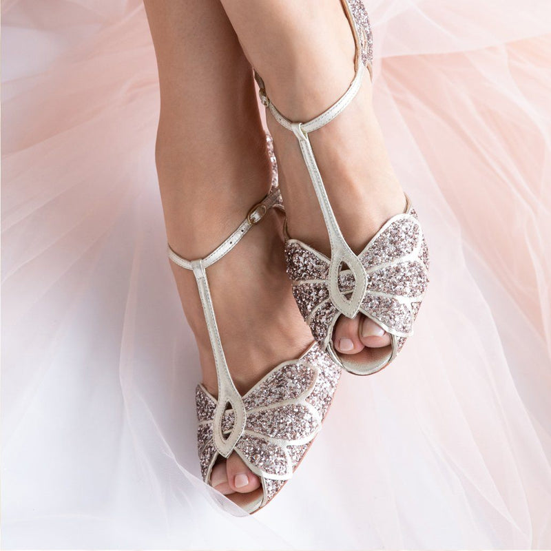 Say 'I do' in sparkly wedding shoes