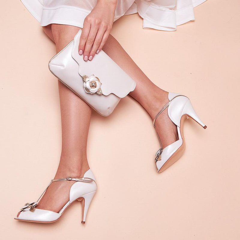 The best shoe and bag combinations for weddings