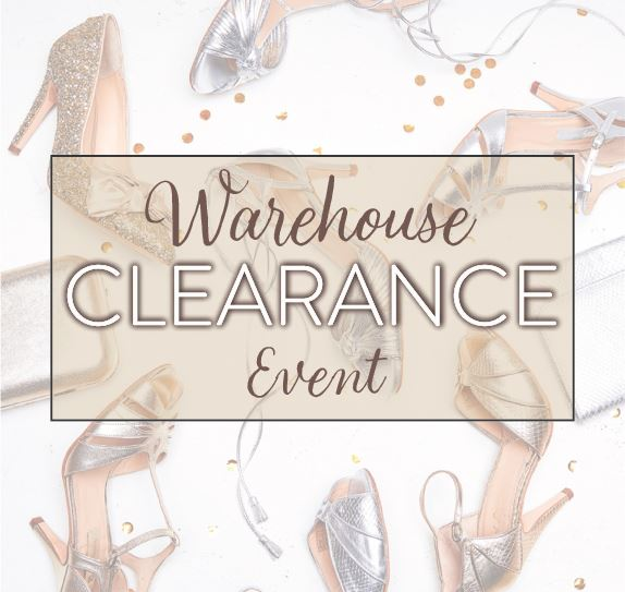 The Warehouse Clearance Event- wedding shoes and bags at crazy prices!
