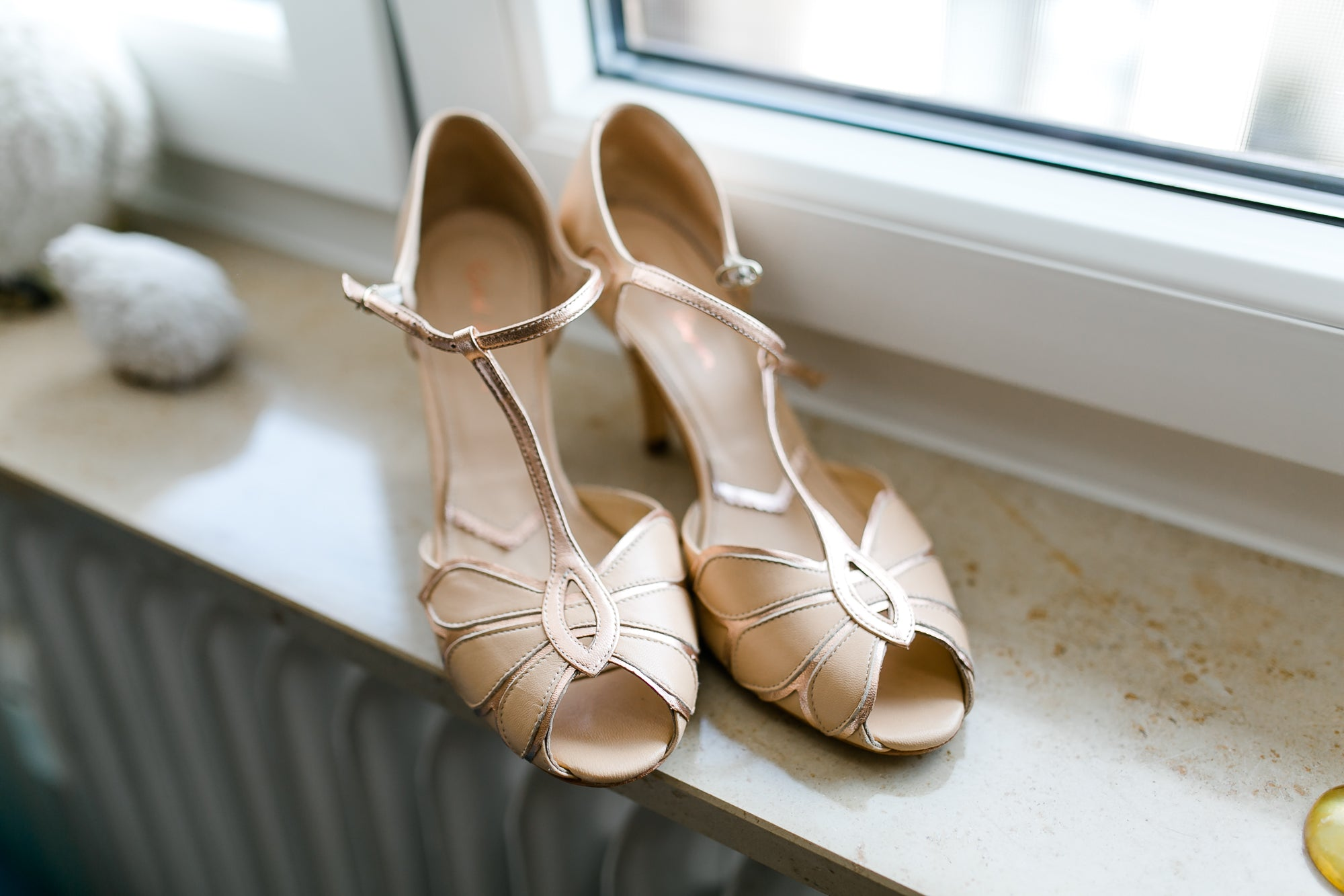 Rachel Simpson Mimosa rose gold wedding shoes