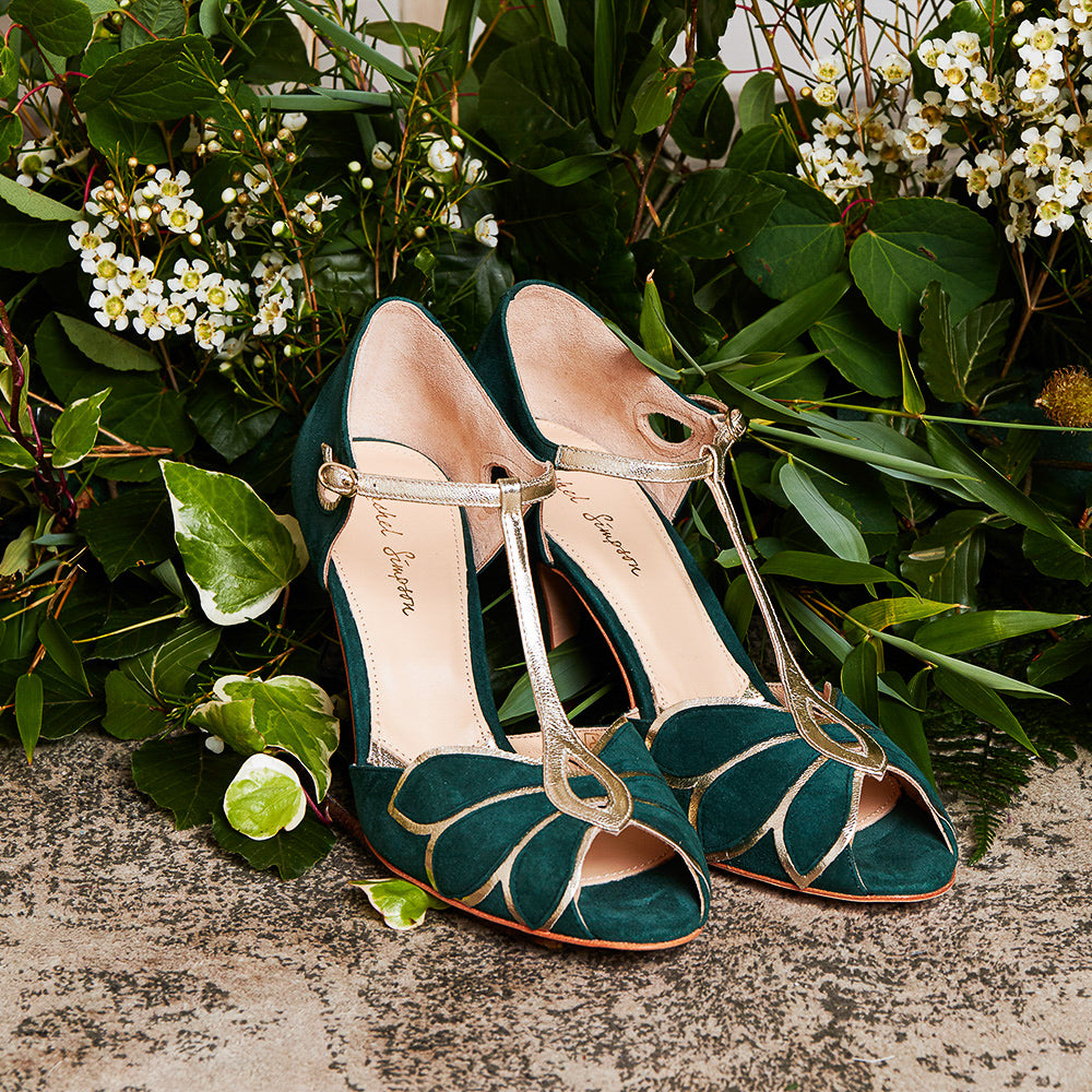 Mimosa Forest Green Wedding shoes Bridal Shoes