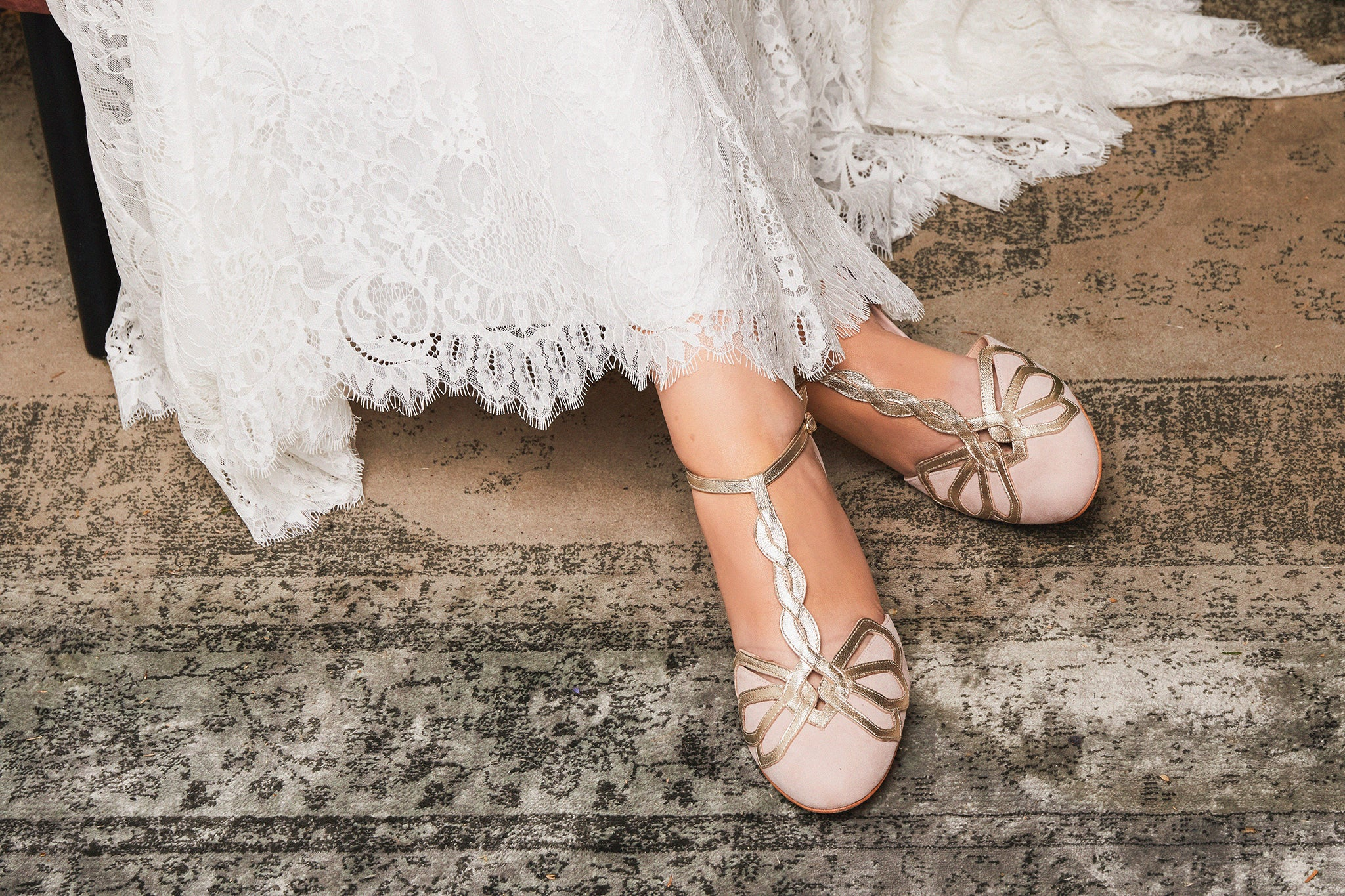Rachel Simpson Rosita blush pink wedding shoes