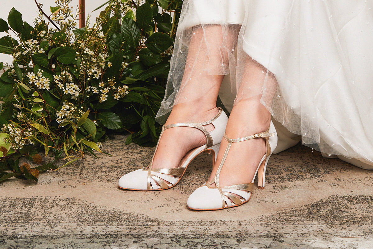 Rachel Simpson Paloma twenties t-bar wedding shoes
