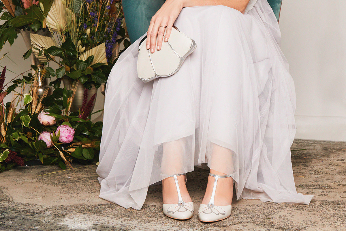 Rachel Simpson Gardenia wedding shoes