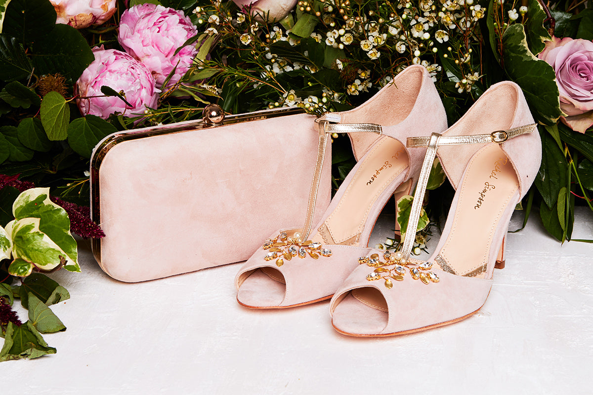 Rachel Simpson Amalia pink blush wedding shoes