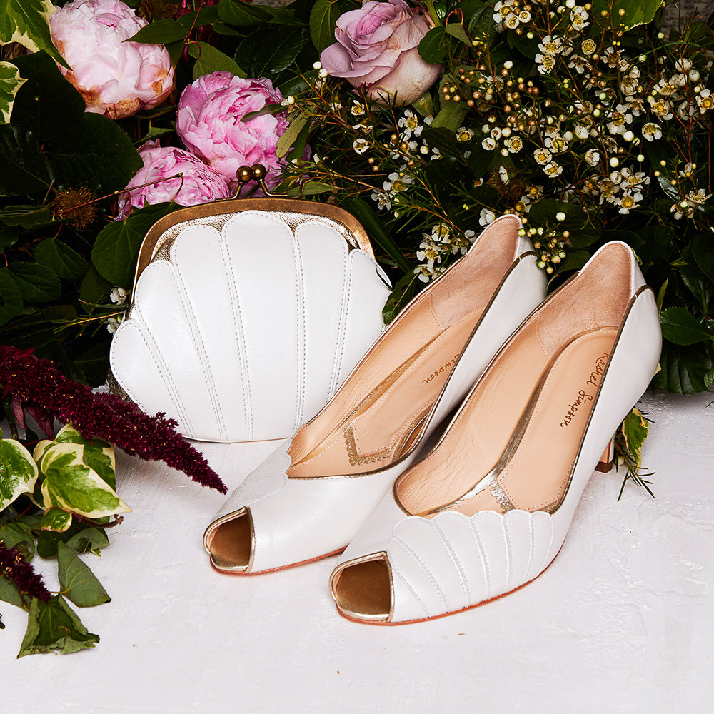 5 Low Heel Wedding Shoes Ada Vintage Wedding Shoes