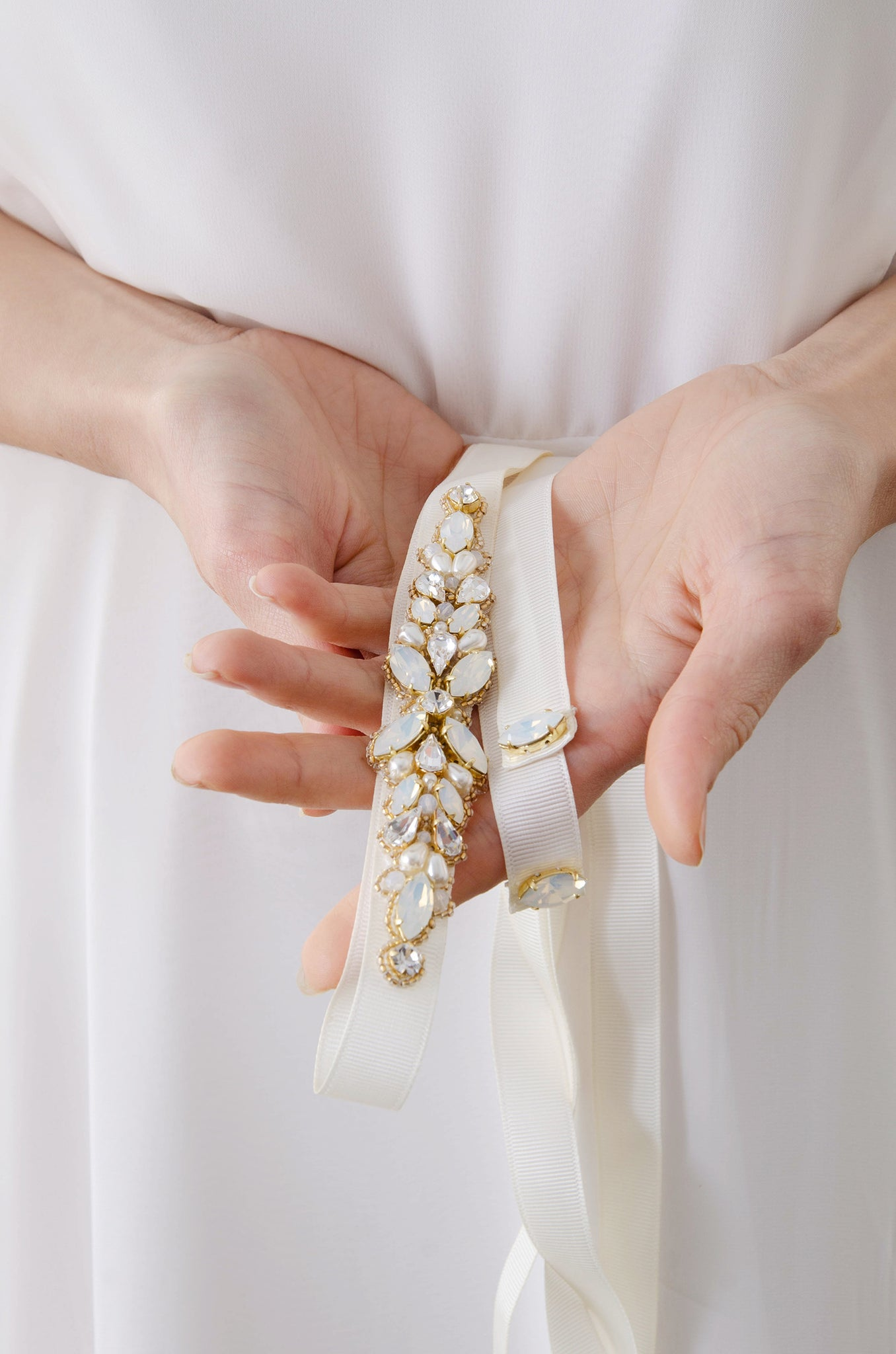 Laurel Lime X Rachel Simpson Opal Embellished Swarovski bridal belt
