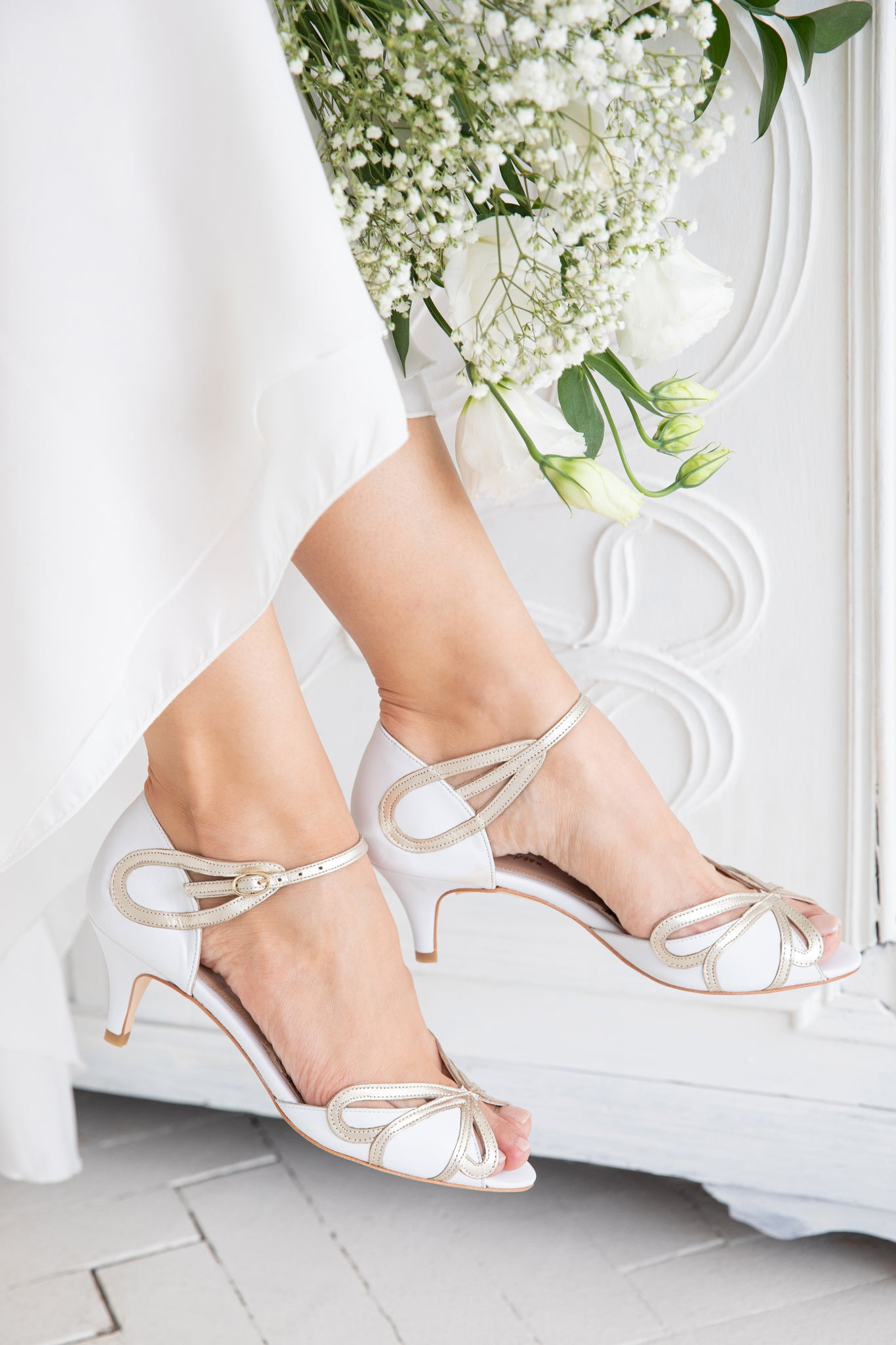 Rachel Simpson Cecelia ivory wedding shoes