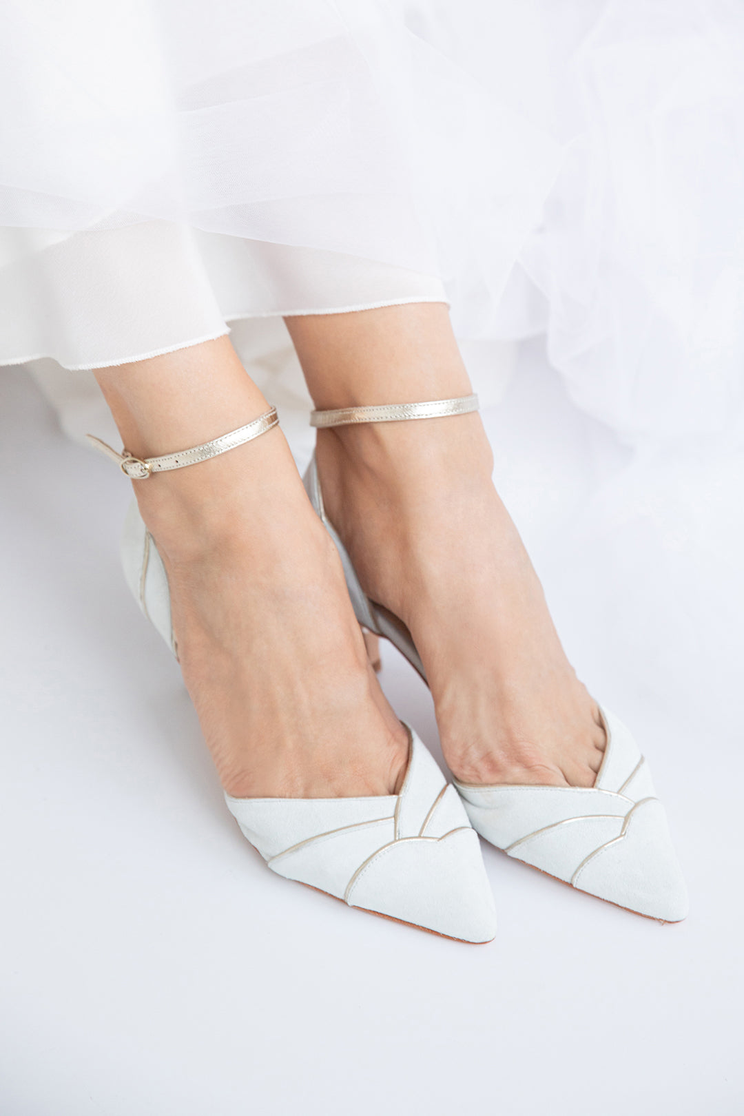 Rachel Simpson Clementine ivory pointed wedding shoes