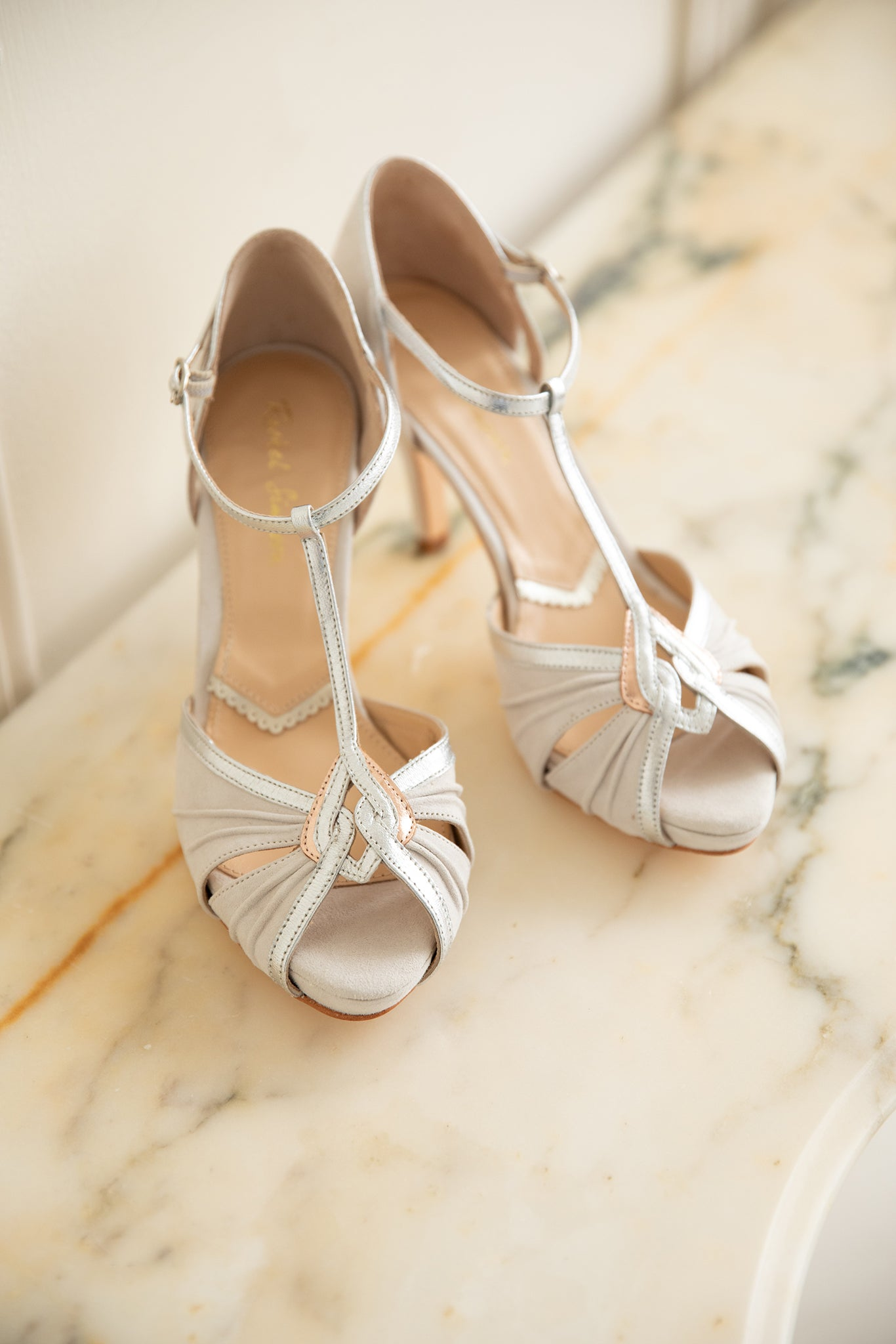 Rachel Simpson Louisa ivory platform wedding shoes