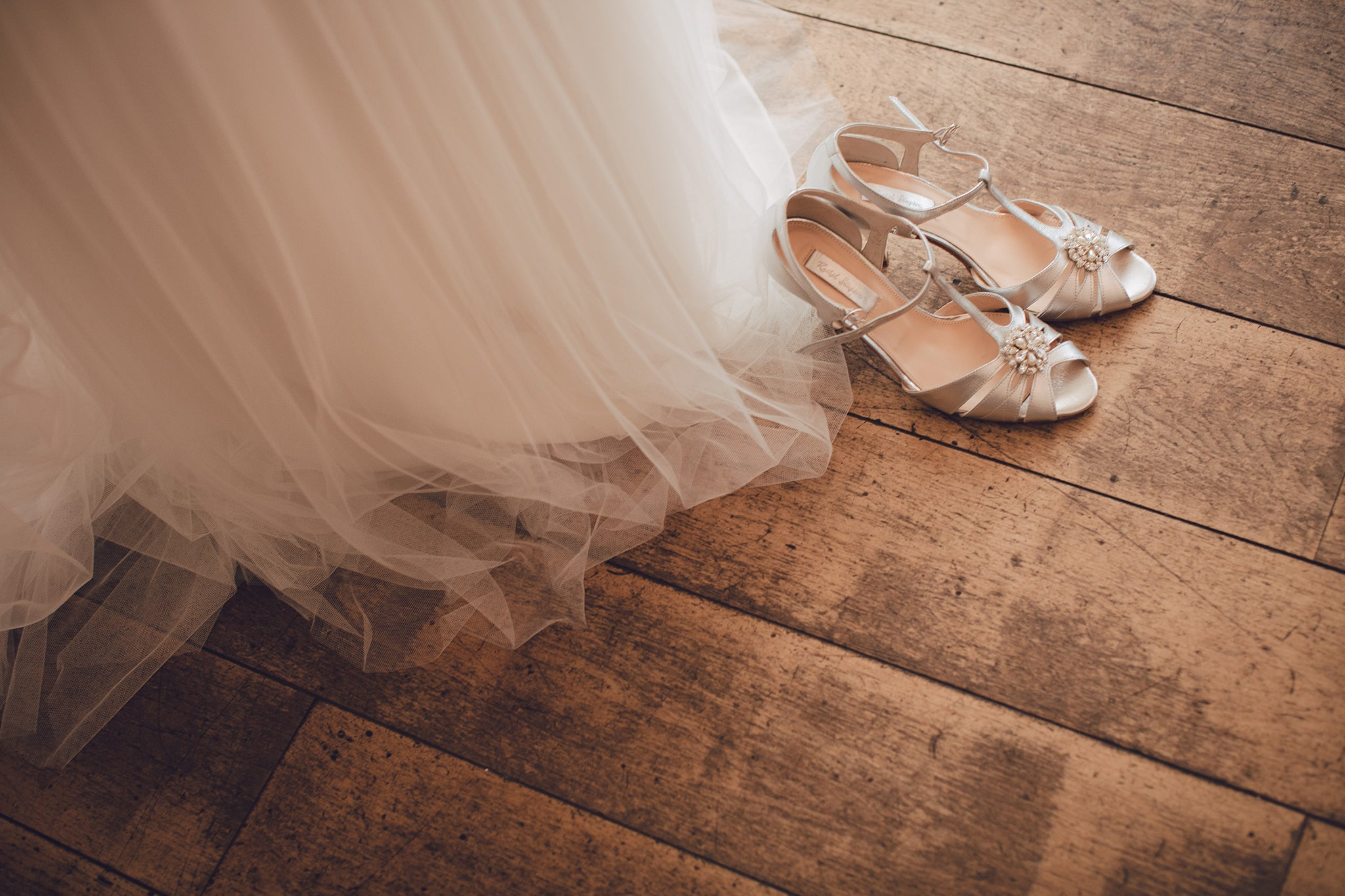 Rachel Simpson Ginger silver wedding shoes