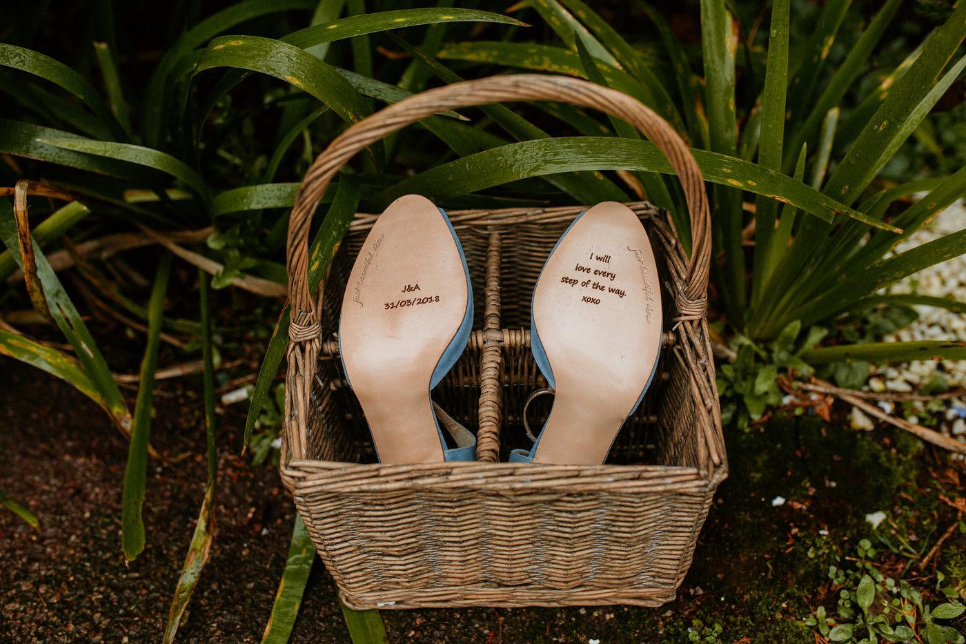 Shoes for an outdoor wedding