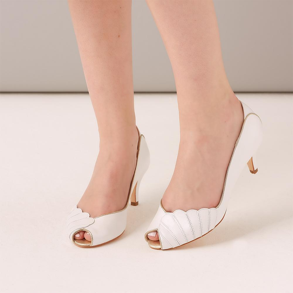 Rachel Simpson Low Heel Vintage Wedding Shoe Ada