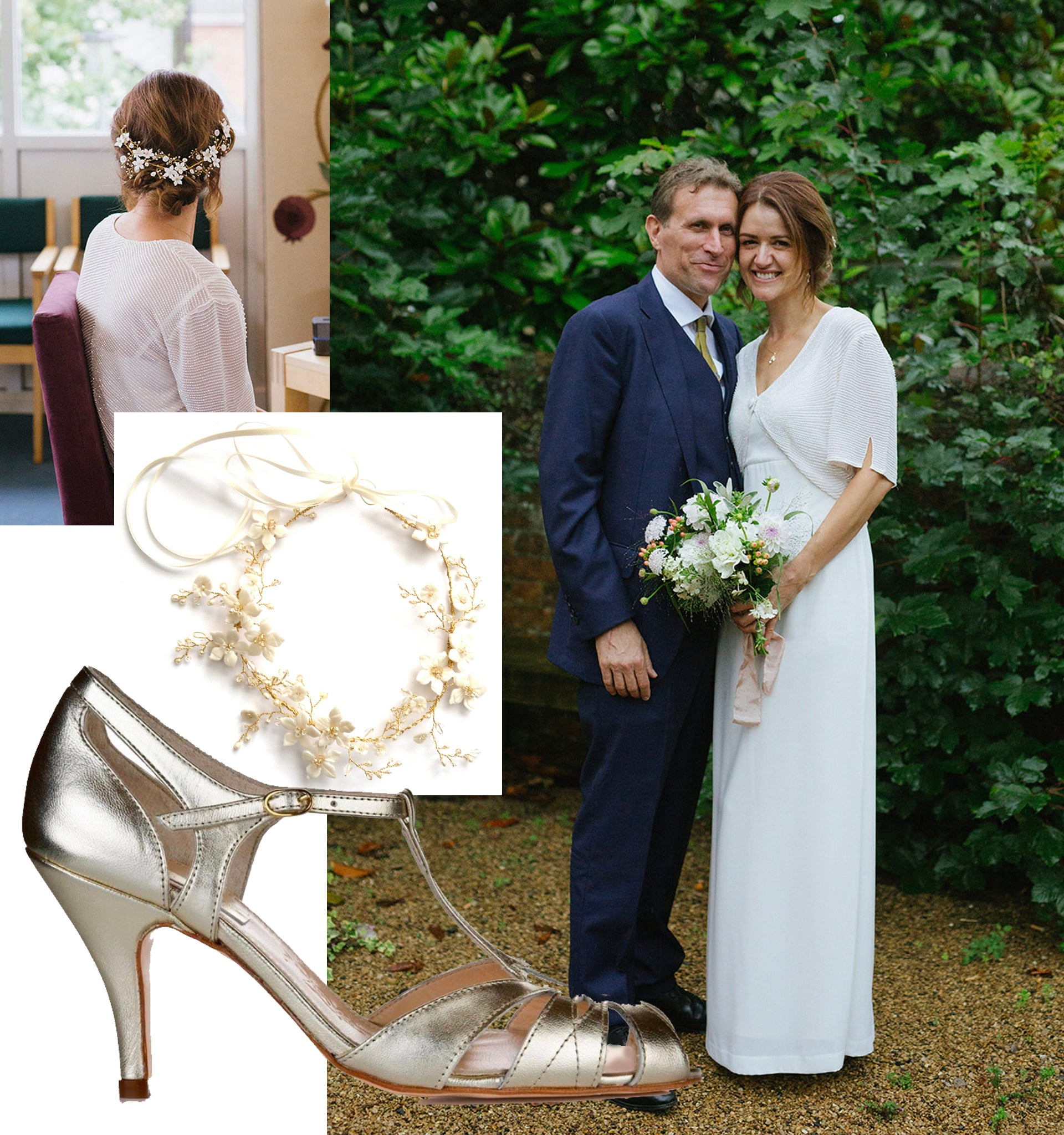 Rachel Simpson Ginger gold wedding shoes