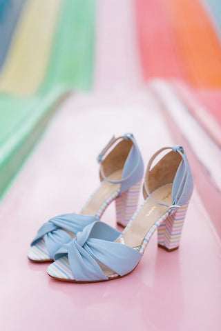 Rachel SImpson Candyfloss baby blue shoes