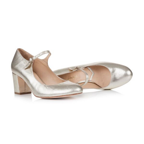 Rachel Simpson Gold Closed toe shoes