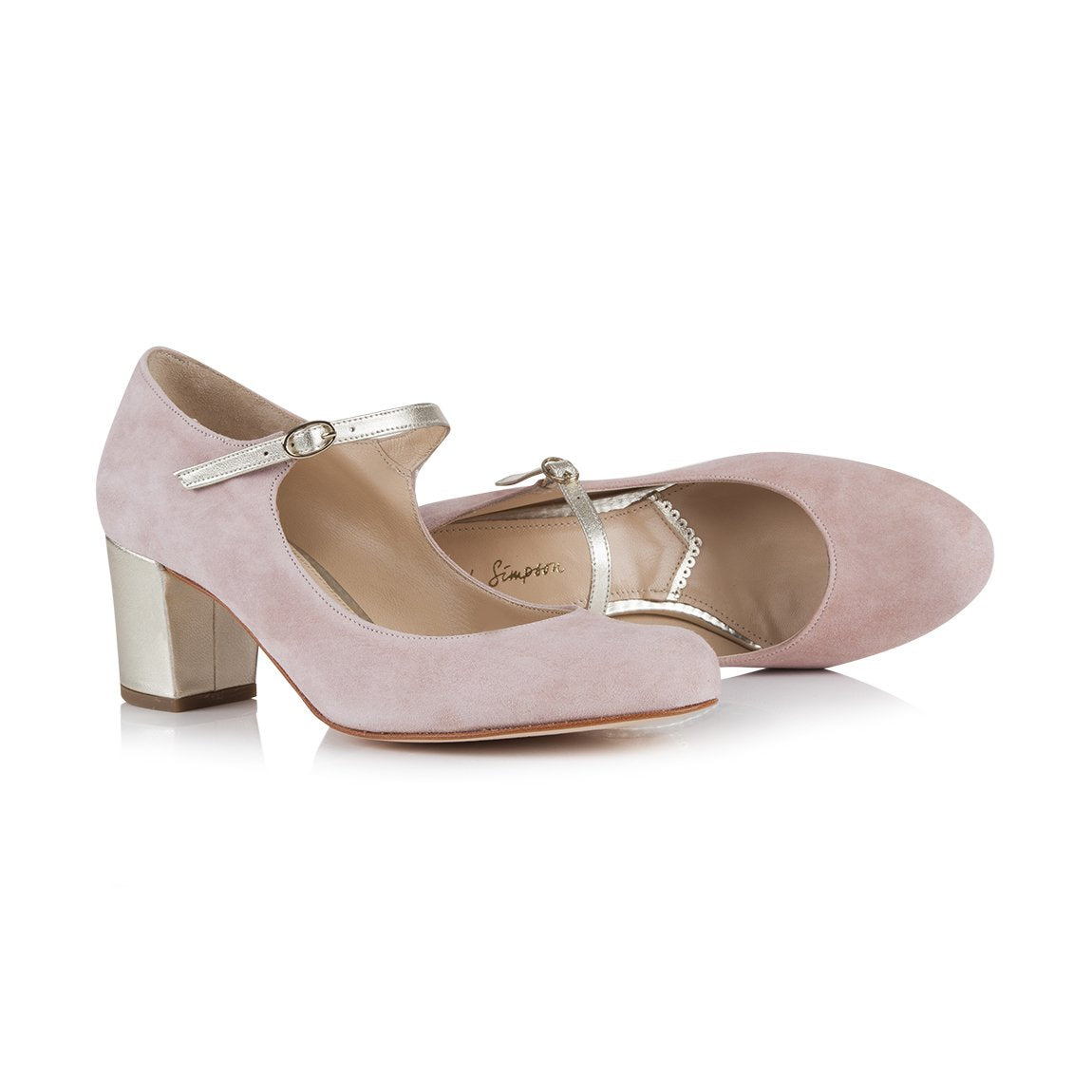 Rachel Simpson Pink Block Heel Mary Jane Shoe